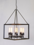 Rental store for 8 LIGHT IRON CUBE CHANDELIER in Columbia SC
