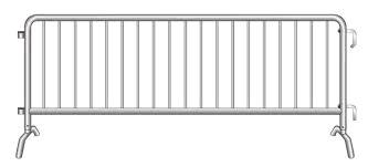 Where to find BARRICADE FENCE METAL 8  X 44 in Columbia