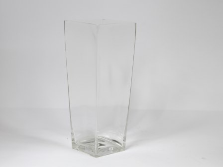 16 Inch Tall Square Flared Glass Vase Rentals Columbia Sc Where To